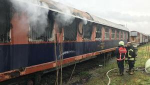 Manisa Garında vagon yangını