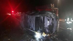 Otomobil beton mikseriyle çarpıştı: 2 yaralı