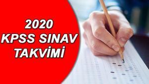 2020 KPSS başvuruları ne zaman başlayacak ÖSYM KPSS lisans önlisans ve ortaöğretim başvuru takvimi