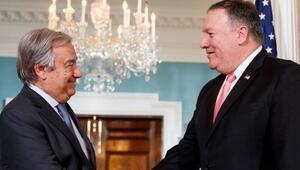 ABD Dışişleri Bakanı Pompeo, BM Genel Sekreteri Guterres ile görüştü