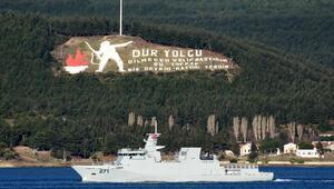 Pakistan savaş gemisi, Çanakkale Boğazından geçti