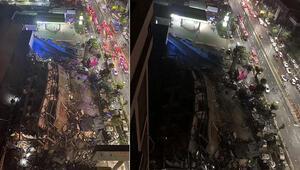 Son dakika haber: Çinde corona virüs hastalarının kaldığı otel çöktü