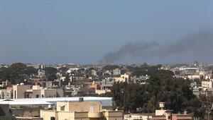 Libyada UMH, Hafter güçlerine ait mühimmat deposunu imha etti