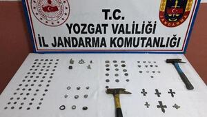 Yozgatta 114 parça tarihi eser ele geçirildi, 2 gözaltı