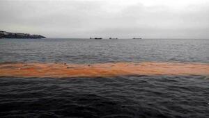 Tekirdağda deniz turuncu renge büründü