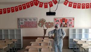 Şarköyde okullar ve camiler bulaşıcı hastalıkları karşı ilaçlandı