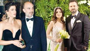 Efe Duru ile Melis Süt evlendi... Berrak Tüzünataçın düğün şıklığı...