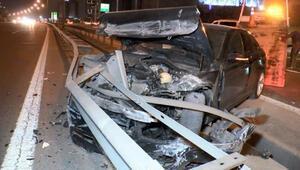 TEMde sabah trafiğini kilitleyen kaza: 1 yaralı