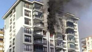 Edirne'de yanan apartman dairesi, kullanılamaz hale geldi