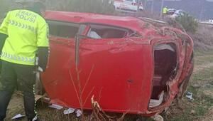 Otomobil takla attı; sürücü öğretmen öldü