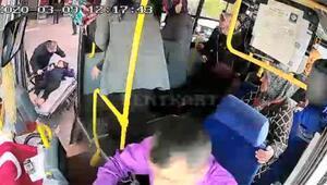 Otobüs şoförü, fenalaşan yolcuyu hastaneye götürdü
