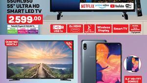 A101 12 Mart 2020 katalog ürünleri arasında telefon televizyon dikkat çekiyor A101 aktüel ürünler