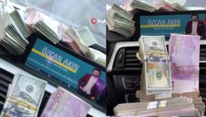 İstanbul'da şok operasyon Parayla doldurdukları arabanın görüntülerini paylaştılar…