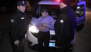 Polisten kaçan alkollü sürücü, yola kapan kurularak yakalandı