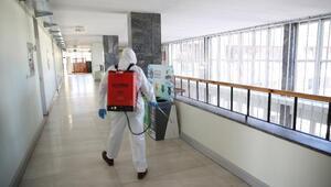 Büyükşehir Belediyesinde dezenfeksiyon seferberliği