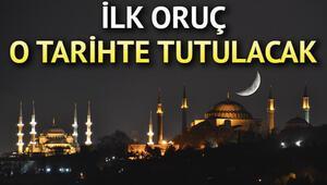 Ramazanın ilk günü ne zaman 2020 Oruç ne zaman hangi tarihte başlıyor Diyanet duyurdu