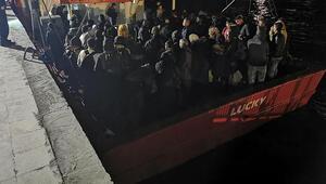 Balıkçı teknesinde 125 göçmen yakalandı