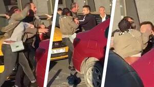 İstanbulda Nijeryalı kadın, taksiciyi dövdü