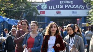 Edirnede, Bulgar ve Yunan turistlerin alışveriş yaptığı pazar kapatıldı