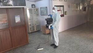 Orhanelide okullar dezenfekte ediliyor