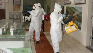 Belediyenin sosyal tesisleri ve fuar alanı dezenfekte edildi
