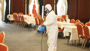 AK Parti Genel Merkezi dezenfekte edildi