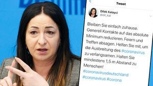 Berlin Sağlık Bakanı Dilek Kalaycı: 'Evde kalın'