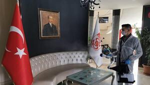 Sivassporun tesisleri dezenfekte edildi