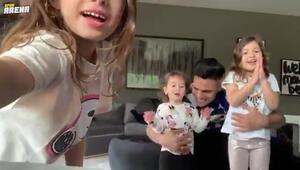 Falcao ve ailesinin keyfi yerinde