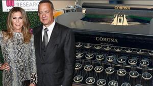 Corona virüs tedavisi gören Tom Hanksten hayranlarına: Virüsü bu daktilodan kaptım