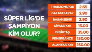 Süper Ligde şampiyonluk oranları güncellendi Favori Trabzonspor...