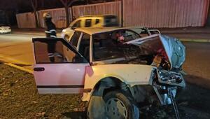 Ağaca çarpan otomobilin sürücüsü yaralandı
