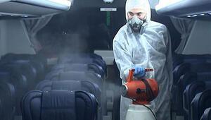 Corona virüs önlemi: Havaist araçlarında dezenfekte sıklığı artırıldı