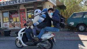 Koronavirüs önlemli tehlikeli yolculuk