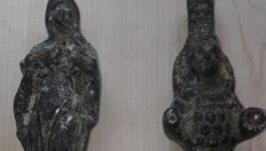 Eskişehirde tarihi eser kaçakçılığı operasyonunda iki şüpheli yakalandı