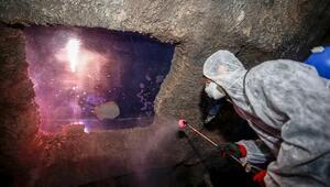Antalya Akvaryumda dezenfekte işlemi yapıldı