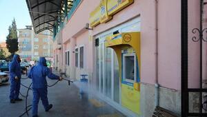 Pamukkalenin cadde ve sokakları dezenfekte ediliyor