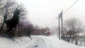 Kocaelinin yüksek kesimlerinde kar yağışı