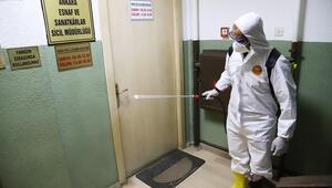 ANKESOB binasında dezenfekte çalışması