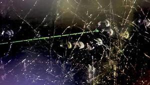 Yunan güvenlik güçlerinden yeşil lazer ışığıyla müdahale Kısa süre isabet etse bile...