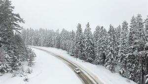 Mart ayında yağan kar kartpostallık görüntüler ortaya çıkardı
