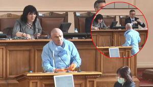 Bulgar vekilden ilginç corona virüs tepkisi Meclise böyle geldi