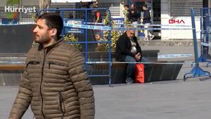 Esenyurtta bariyerlere aldırmadan banklarda oturdular