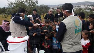 Suriye'deki kamplarda kalanlar sağlık kontrolünden geçirilip, bilgilendirildi