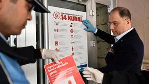Beylikdüzü'nde 5 bin apartmana dezenfektan paspas dağıtıldı