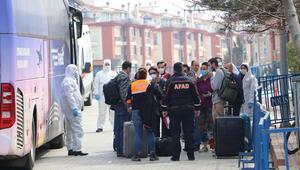 Yurt dışından gelenler Tekirdağdaki yurtlara yerleştiriliyor