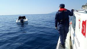 İzmir açıklarında 6sı çocuk 30 göçmen kurtarıldı
