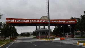 Çorlu Atatürk Havalimanında uçuşlara ara verildi