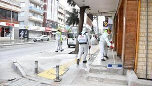 Narlıderede sokaklar dezenfekte edildi