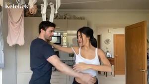 Çamaşır odasında dans